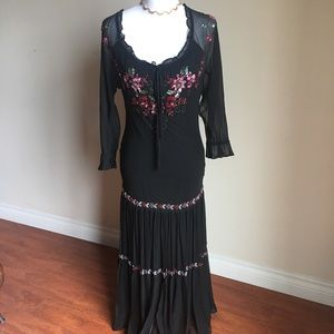 Sue Wong black dress with sequence.